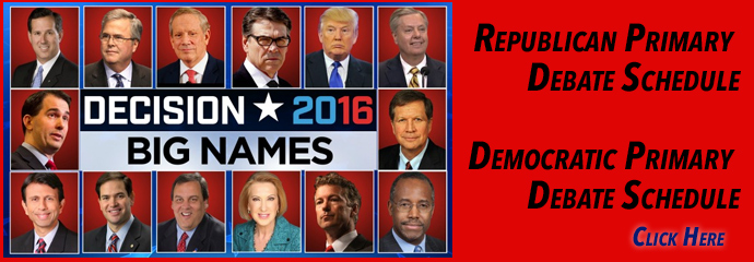 2015- 2016 Republican Debates Schedule,Democratic Debate Schedules, USA Presidential Debate schedules